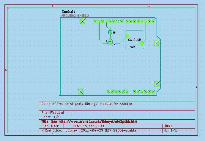 Kicad free pcb cad adding libraries modules e g